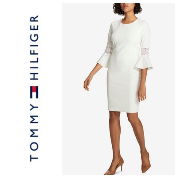 65cda385 Tommy Hilfiger Dresses | Bell Sleeve Sheath Dress Size 6 | Poshmark